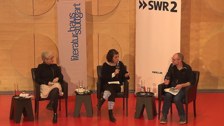 Ulrike Draesner und John von Düffel im Gespräch mit Katharina Borchardt (Foto: SWR)