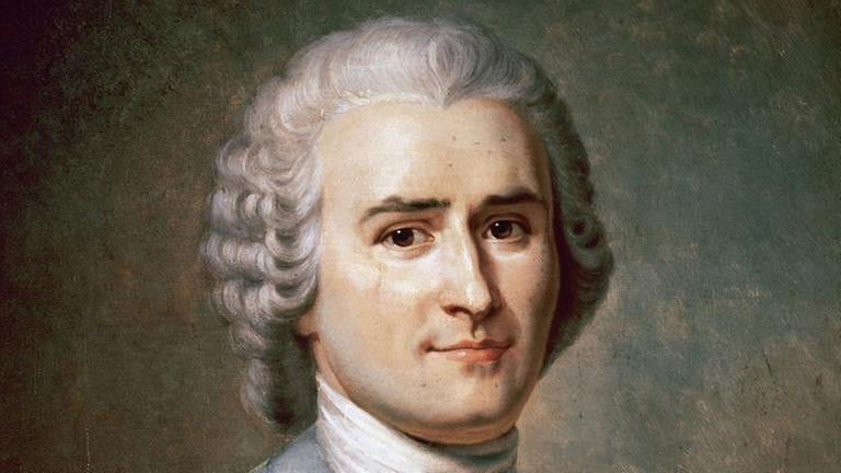 Der Philosoph, Schriftsteller und Komponist Jean-Jacques Rousseau