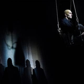 "Samuel Koch in: ""Judas"" Nationaltheater Mannheim, Oktober 2018 (Foto: SWR, Nationaltheater Mannheim, Pressestelle - Christian Kleinerl)"