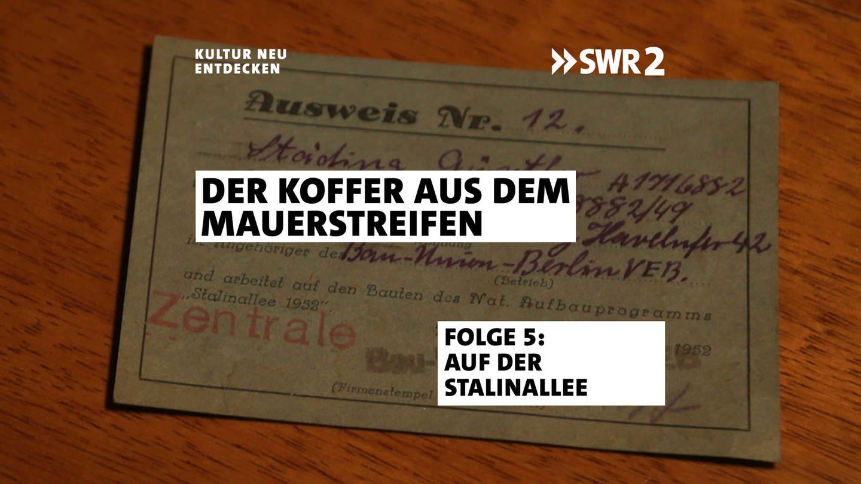 Ausweis der Bauunion (Foto: SWR, Frédérique Veith / Marianne Wendt)