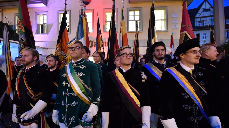 Burschenschaftler in Jena (Foto: picture-alliance / Reportdienste, Martin Schutt)