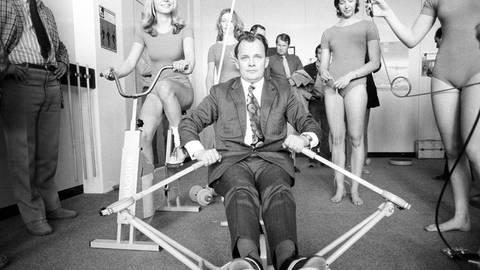 Eröffnung des Trimm-Dich-Raumes im Olympischen Dorf 1972 (Foto: Imago, imago images/WEREK)