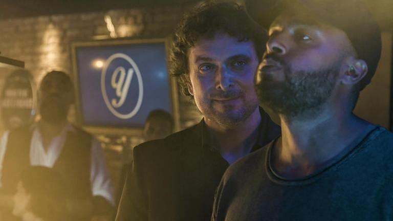 Die beiden Hauptdarsteller in der funk-Serie Patchwork Gangsta, Stefan Mocker (li.) und Haben Tesfai. (Foto: Pressestelle, SWR - Foto: SWR Presse/Bildkommunikation)
