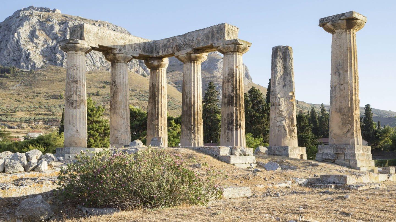 Archaischer Tempel des Apollo, dorische Säulen, Korinth, Griechenland (Foto: Imago, Westend61 / Maria Maar)