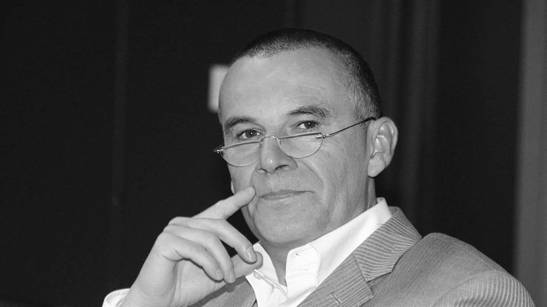 Norbert Schaeffer 2004 im SWR Studio in Stuttgart bei den Aufnahmen des Hörspiels