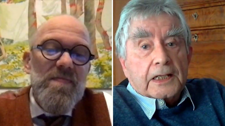 Thomas Böhm und Christoph Bugger in der Video-Konferenz (Foto: SWR)