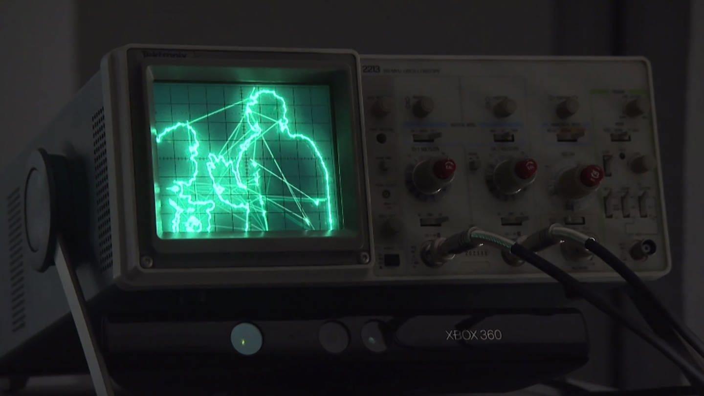 Oszilloskop zeigt Silhouette eines Menschen (Foto: SWR, SWR -)