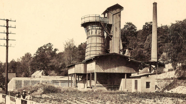 Kalkwerk um 1903, Landkreis Meißen, Deutschland (Foto: Imago, Artokoloro)
