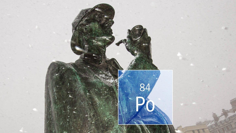 Sherlock Holmes Statue und Polonium (Foto: Imago, Colourbox, ZUMA Press)