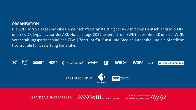 Logos der Veranstalter und Partner der ARD Hörspieltage 2019 (Foto: SWR, ARD)