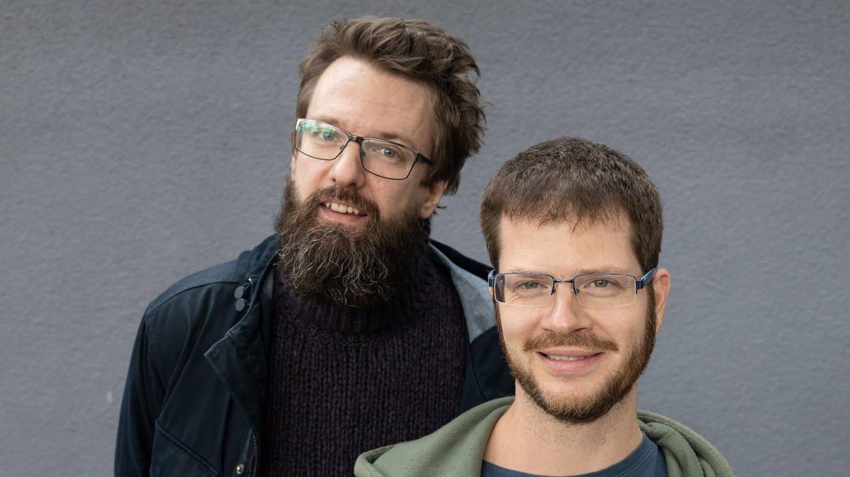 Jiří Adámek und Ladislav Źelezný (Karl-Sczuka-Förderpreisträger 2019) (Foto: SWR, Ralf Brunner)
