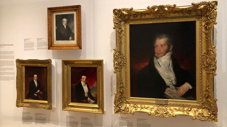 Ausstellungsstücke im Jüdischen Museum Frankfurt: Portraits der Familie Rothschild (Foto: SWR, Martina Conrad)