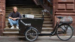 Jonas Denzel und sein Beambike (Foto: Pressestelle, Pressefoto: Bruno Kelzer)