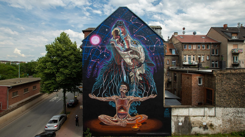 Mural von NYCHOS, 2021 / Stadt.Wand.Kunst