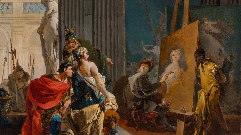 Giovanni Battista Tiepolo, Apelles und Campaspe, um 1725/30, The Montreal Museum of Fine Arts, Adaline van Horne Bequest (Foto: Staatsgalerie Stuttgart / Photo MMFA, Christine Guest)