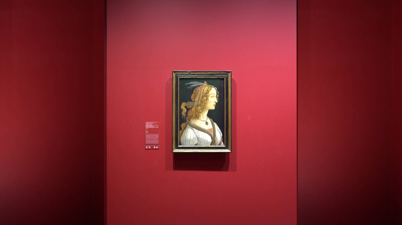 Sandro Botticelli: Weibliches Idealbildnis (ca. 1480) Städel Museum Frankfurt am Main (Foto: SWR)