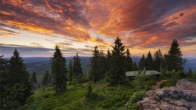 Am Gipfel des Großen Rachel, Nationalpark Bayerischer Wald (Foto: Imago, imago images / imagebroker / Andreas Vitting)