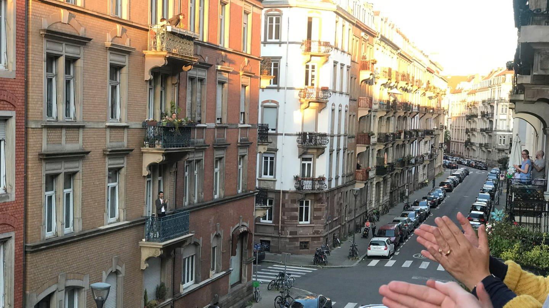 Die Rue Sleidan in Straßburg während der Ausgangsbeschränkung (Foto: SWR, Ulrich Lampen)