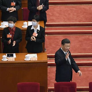 Chinas Präsident Xi Jinping beim Volkskongress (Foto: Imago, imago images / Kyodo News)
