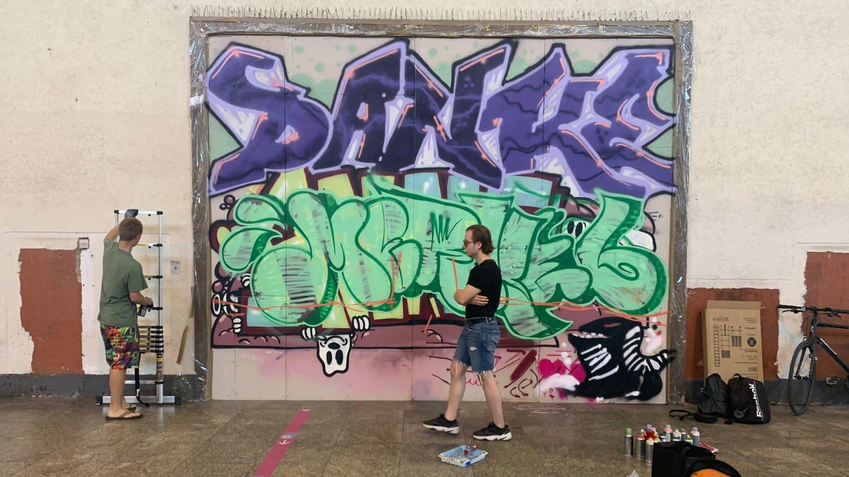 Graffiti-Galerie im Bonatzbau in Stuttgart (Foto: SWR, Cordelia Marsch)