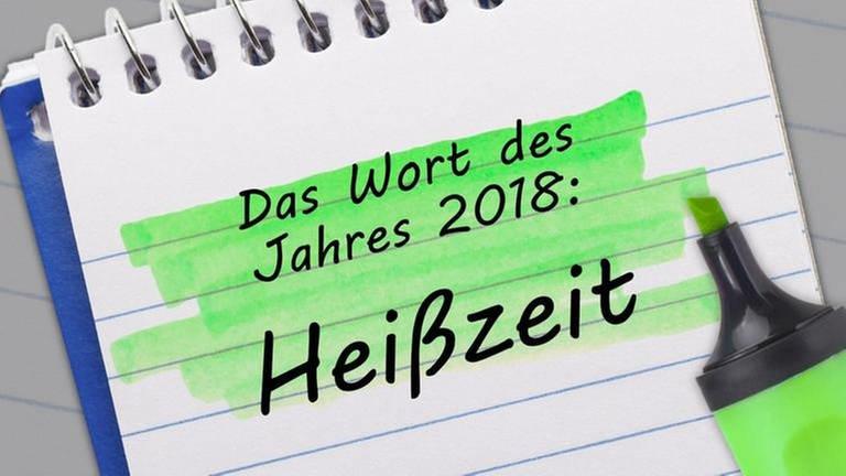 Das Wort des Jahres: Heißzeit (Foto: SWR, SWR - Gesellschaft für deutsche Sprache)
