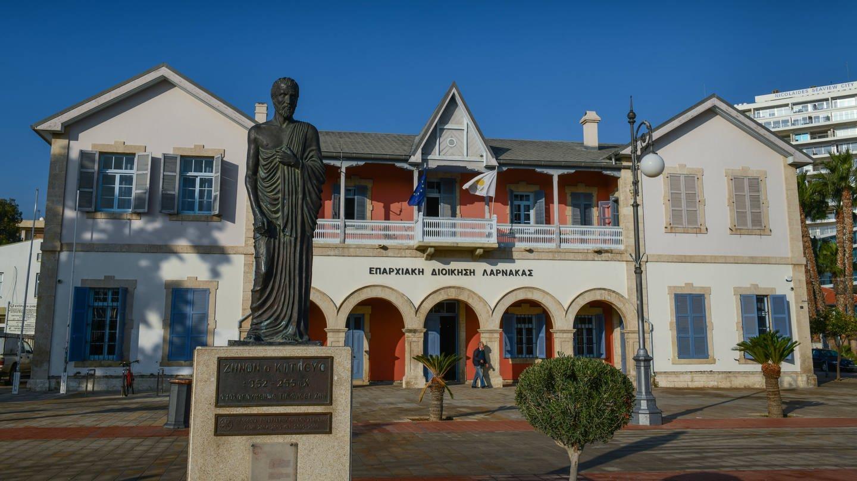 Gemeindeverwaltung, Europaplatz, Finikoudas Promenade, Larnaka, Republik Zypern (Foto: Imago, Joko)