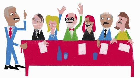 Menschen bei einer Abstimmung per Handzeichen (Foto: Imago, imago images / Ikon Images / Jens Magnusson )