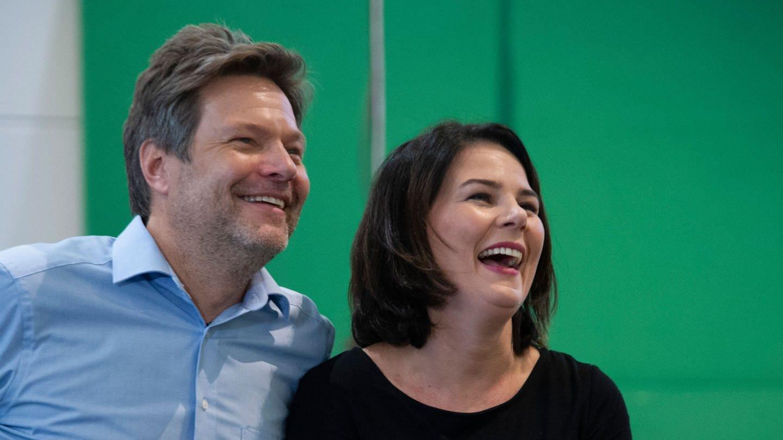 Robert Habeck und Annalena Baerbock, Die Grünen (Foto: Imago, imago images/Sven Simon)