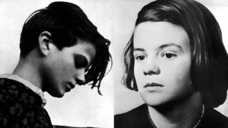 Bildmontage zweier Porträtbilder der Widerstandskämpferin Sophie Scholl, links im Profil, rechts schräg von vorne (Foto: picture-alliance / Reportdienste, picture alliance / Photo12/Archives Snark | picture alliance/dpa)