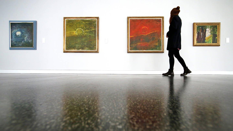 Bilder des Expressionisten Fritz Ascher im Museum Gunzenhauser in Chemnitz (Sachsen)