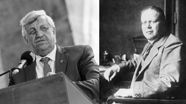 Die Politiker Walter Lübcke und Matthias Erzberger in einer Montage