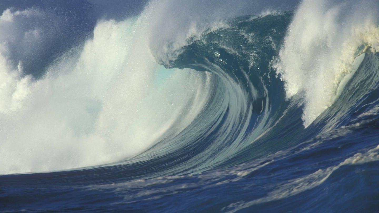 Brechende Welle vor der Waimaia Bay (Foto: Imago, imago images / HochZwei/newsport)