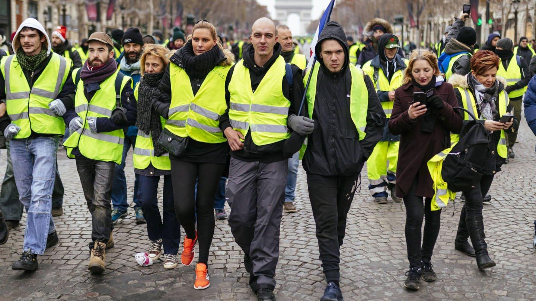 Gelbwesten-Proteste gegen Präsident Macron auf den Champs-Élysées (Foto: Imago, imago/Future Image/Christoph Hardt)