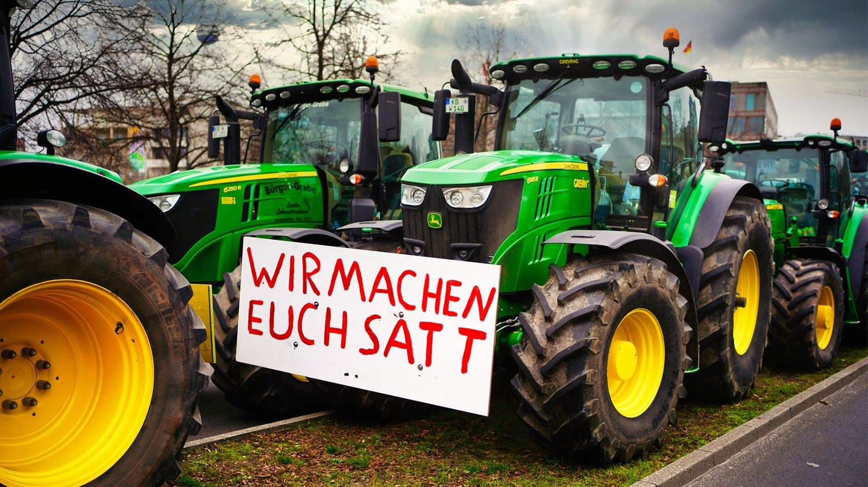 Proteste der Bauern (Foto: Imago, imago images/Stefan Zeitz)