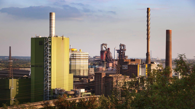 Stahlwerk Bruckhausen (Foto: Imago, imago images / Olaf Döring)