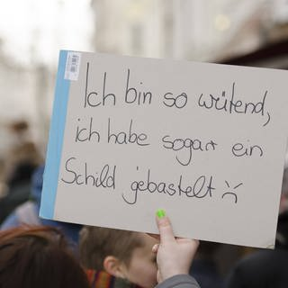 "Vielsagendes Schild bei einer ""Fridays for Future""-Demonstration in Flensburg (Foto: Imago, Willi Schewski)"