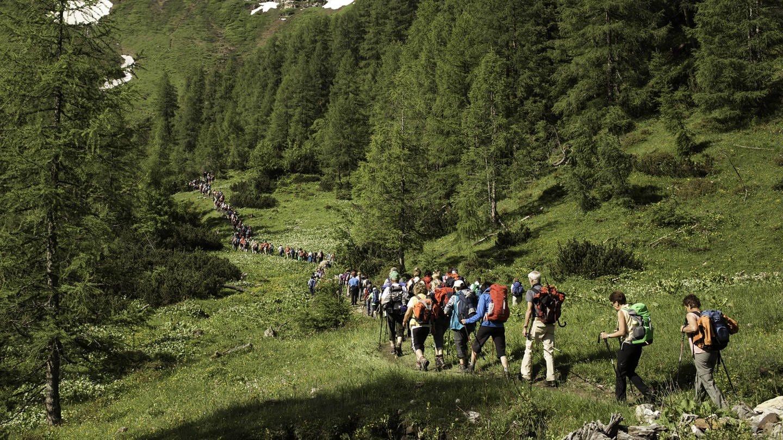 Wallfahrer im Seidlwinkltal (Foto: Imago, imago images / imagebroker)