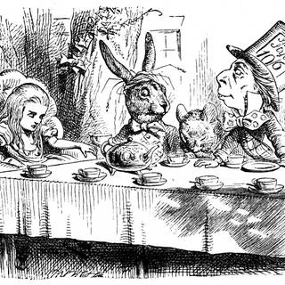 Die Teeparty des verrückten Hutmachers. Illustration von John Tenniel für Alice's Adventures in Wonderland von Lewis Carroll (London, 1865) (Foto: Imago, imago/United Archives International)