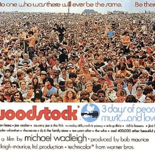 Filmplakat des Woodstock Films von 1970 (Foto: picture-alliance / Reportdienste, Everett Collection)