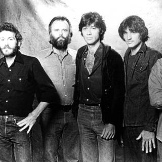 The Band, pop group: Levon Helm, Garth Hudson, Robbie Robertson, Rick Danko, Richard Manuel (Foto: Imago, United Archives International)