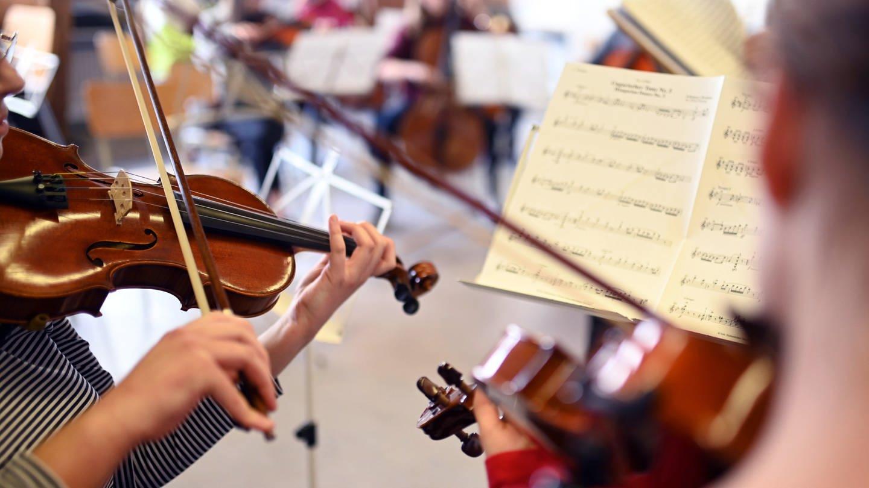Kammerorchester Melanchthon-Gymnasium Bretten (Foto: picture-alliance / Reportdienste, Uli Deck)