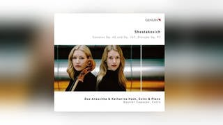 CD-Cover: Duo Anouchka & Katharina Hack (Cello & Klavier), Gautier Capucon (Cello) (Foto: Pressestelle, Genuin)