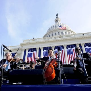 Vereidigung von Barack Obama - Yo-Yo Ma, Itzhak Perlman und Anthony McGill (Foto: picture-alliance / Reportdienste, picture-alliance/ dpa | epa Justin Lane)