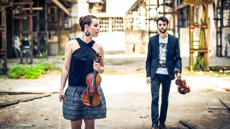 The Twiolins (Marie-Luise Dingler und Christoph Dingler, Violinen) (Foto: Christoph Asmus)