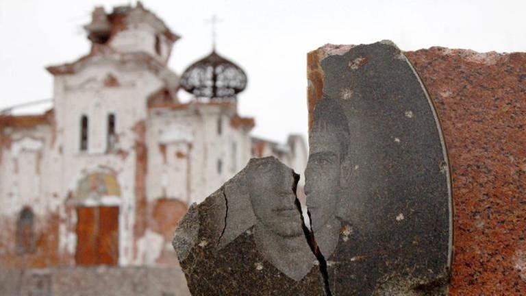 zerstörter orthodoxer Friedhof mit Kapelle (Foto: Imago, imago/ITAR-TASS - Valentin Sprinchak)