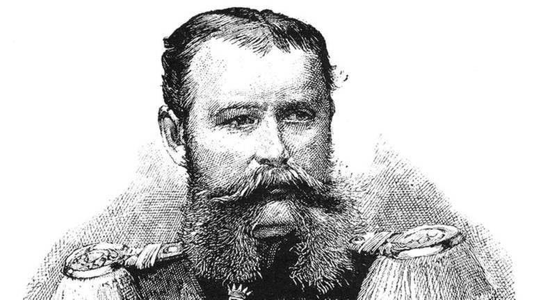 Historische Zeichnung, Portrait von Wilhelm II., 1848 - 1921, vierte und letzte König von Württemberg (Foto: dpa Bildfunk, dpa Bildfunk -)