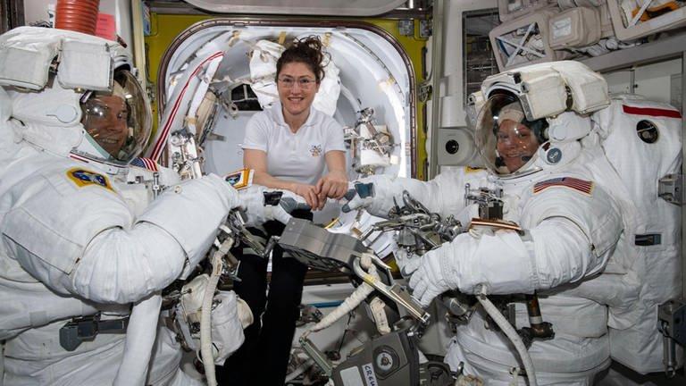 Astronauten auf der ISS (Foto: picture-alliance / Reportdienste, picture-alliance / Reportdienste -)