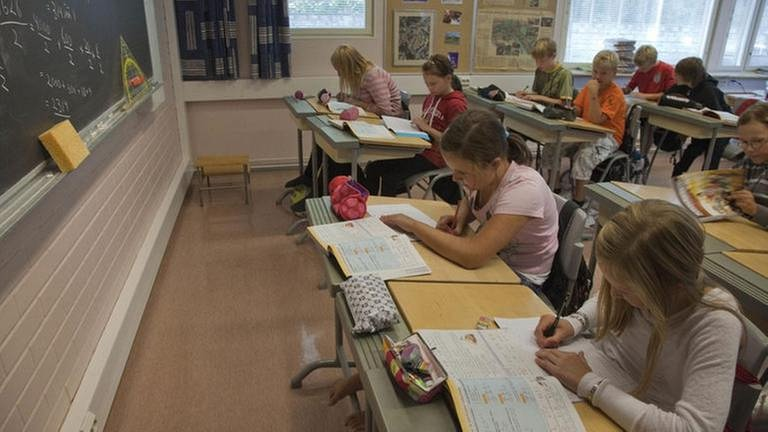 Matheunterricht in der Wäinö Aaltonen Schule in Turku, Finnland (Foto: dpa Bildfunk, dpa Bildfunk -)