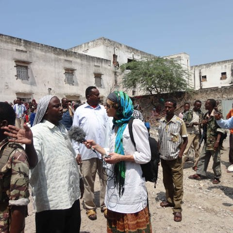 Bettina Rühl in Mogadischu (Foto: SWR, privat)