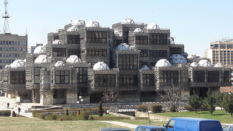 Die Nationalbibliothek des Kosovo in Priština.